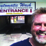 Owner and Car Wash Entrance