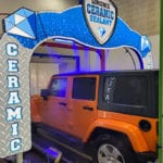 Jeep Passes Through Simoniz Ceramic Sealant Arch